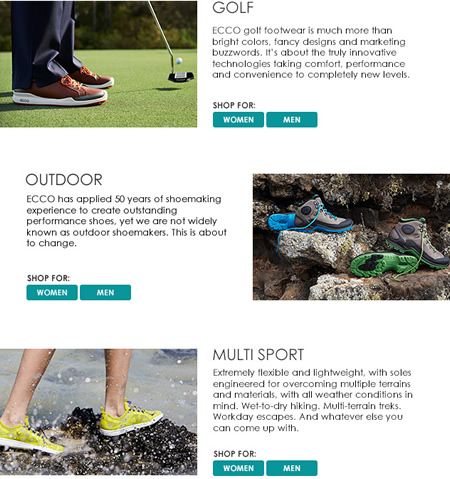 Ecco Sport Collection - golf, outdoors, running
